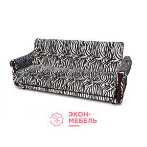 Велюровый диван с подлокотниками Классик черно-белый Е1000-ВZ