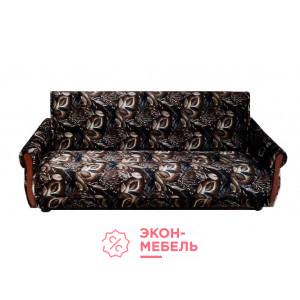 Велюровый диван с подлокотниками Классик темно-коричневый Е1000-В13