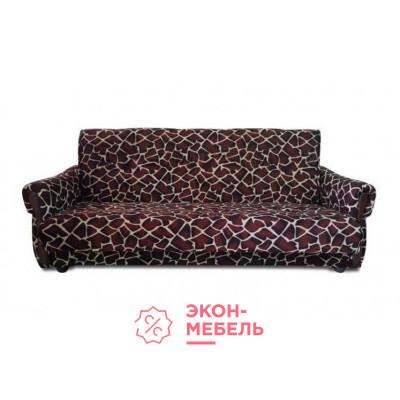 Велюровый диван с подлокотниками Классик коричневый Е1000-В24