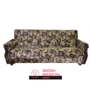 Велюровый диван с подлокотниками Классик коричневый Е1000-В6