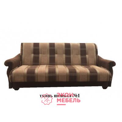 Диван-кровать с подлокотниками Классик Шенилл темно-коричневый E1001-SH1