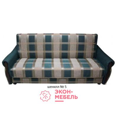Диван-кровать с подлокотниками Классик Шенилл зеленый E1001-SH5