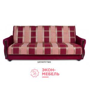 Диван-кровать с подлокотниками Классик Шенилл бордовый E1001-SH6