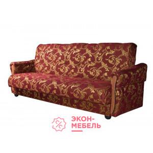 Диван-кровать с подлокотниками Классик Гобелен бордовый E1002-G2-3
