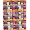 Диван-кровать с подлокотниками Классик микровелюр плетение розовое E1004-034-2