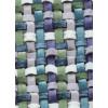 Диван-кровать с подлокотниками Классик микровелюр плетение голубое E1004-034-4