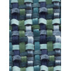 Диван-кровать с подлокотниками Классик микровелюр плетение синие E1004-034-5