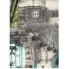 Диван-кровать с подлокотниками Классик микровелюр город светлый E1004-039-1
