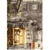 Диван-кровать с подлокотниками Классик микровелюр город светлый E1004-039-2