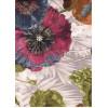 Диван-кровать с подлокотниками Классик микровелюр цветы коричневые E1004-441-5