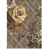 Диван-кровать с подлокотниками Классик микровелюр цветы зеленые E1004-AN63-2А