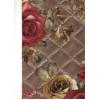 Диван-кровать с подлокотниками Классик микровелюр цветы коричневые E1004-AN63-4А
