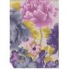 Диван-кровать с подлокотниками Классик микровелюр цветы светлый E1004-В-1