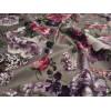 Диван-кровать с подлокотниками Классик микровелюр цветы серые E1004-H2