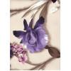 Диван-кровать с подлокотниками Классик микровелюр цветы светлый E1004-IRIS-1