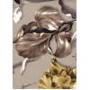 Диван-кровать с подлокотниками Классик микровелюр цветы коричневые E1004-IRIS-2