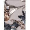 Диван-кровать с подлокотниками Классик микровелюр цветы серые E1004-IRIS-3