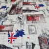 Диван-кровать с подлокотниками Классик микровелюр город светлый E1004-LONDON-20-1