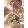 Диван-кровать с подлокотниками Классик микровелюр цветы бежевые E1004-P-1