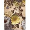 Диван-кровать с подлокотниками Классик микровелюр цветы бежевые E1004-P-3