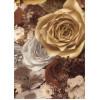 Диван-кровать с подлокотниками Классик микровелюр цветы коричневые E1004-P-4
