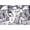 Диван-кровать с подлокотниками Классик микровелюр город серый E1004-SPB2