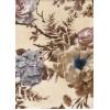 Диван-кровать с подлокотниками Классик микровелюр цветы бежевые E1004-W15-4