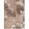 Диван-кровать с подлокотниками Классик микровелюр цветы коричневые E1004-Y1602-7A