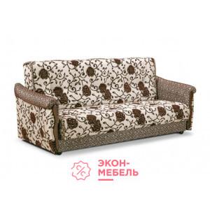 Диван-кровать с подлокотниками Классик флок на рогожке E1005-R051-11