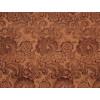 Диван-кровать с подлокотниками Классик замша коричневая с цветами E1006-20-2