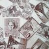 Диван-кровать с подлокотниками Классик замша молочная принт газета E1006-31
