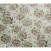 Диван-кровать с подлокотниками Классик замша молочная цветы E1006-32