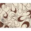 Диван-кровать с подлокотниками Классик замша молочная абстракция серая E1006-33