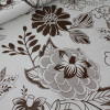 Диван-кровать с подлокотниками Классик замша молочная цветы E1006-38