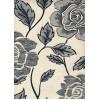 Диван-кровать с подлокотниками Классик замша цветы серые E1006-TX-6