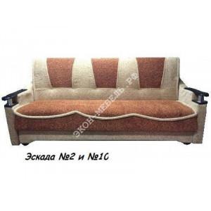 Диван-кровать Классик с деревянными подлокотниками Эскада, жаккард, вельвет люкс