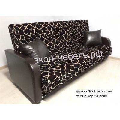 Диван-кровать Эстет с квадратными подлокотниками велюр с эко кожей