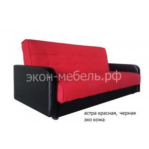 Диван-кровать Эстет с квадратными подлокотниками Гобелен, Астра с подлокотниками из экокожи