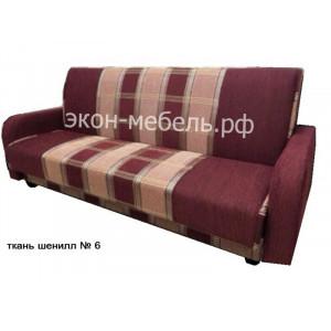 Диван-кровать Эстет с квадратными подлокотниками шенилл
