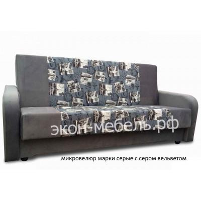 Диван-кровать Эстет с квадратными подлокотниками в ткани микровелюр с вельвет люксом