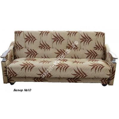 Диван-кровать Классик с деревянными подлокотниками Велюр