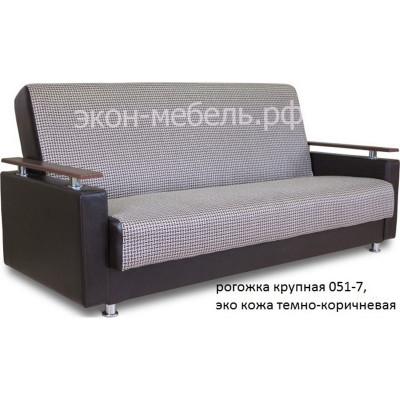 Диван-кровать Эстет с деревянными подлокотниками в ткани турецкий гобелен или рогожка