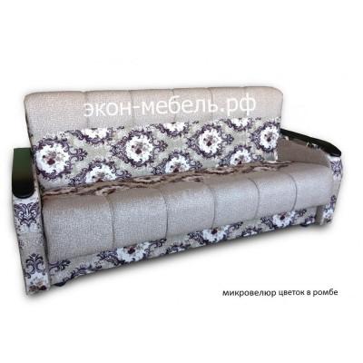 Диван-кровать Мечта микровелюр с деревянными подлокотниками
