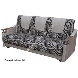 Диван-кровать Классик с деревянными подлокотниками Гобелен турецкий
