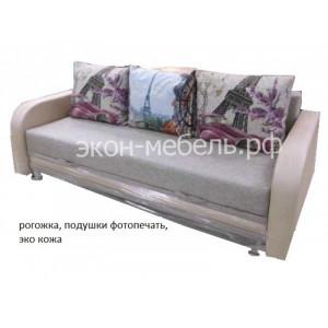 Диван-кровать Еврокнижка 2 турецкий гобелен с фотопечатью на подушках