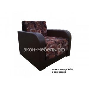 Кресло-кровать Евро Велюр с кож.замом