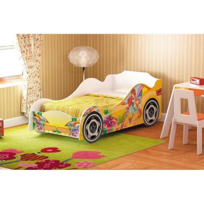 Кровать машина для девочки Омега 12 фотопечать