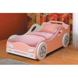 Кровать машина Омега 12 розовая