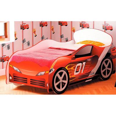 Кровать машина для мальчика Омега 12 фотопечать