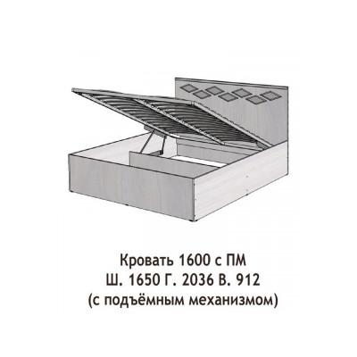 Кровать Диана с подъемным механизмом 1600мм